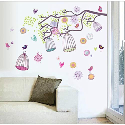 TYOLOMZ DIY Kleurrijke Vogelkooi Zoo Kids Baby Kamer Muursticker Papier Decoratie Decal