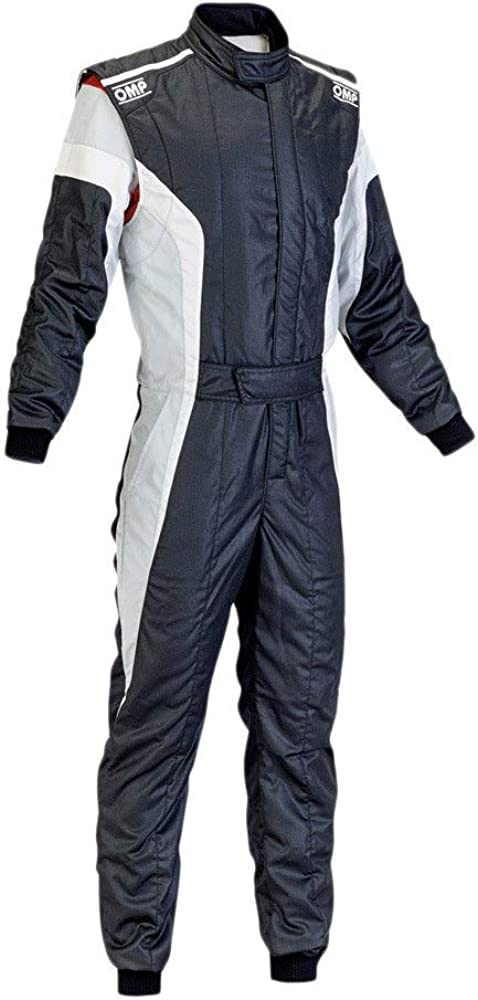 OMP Men's New product type Our shop OFFers the best service Tecnica-S Suit Black Size 52 White Grey