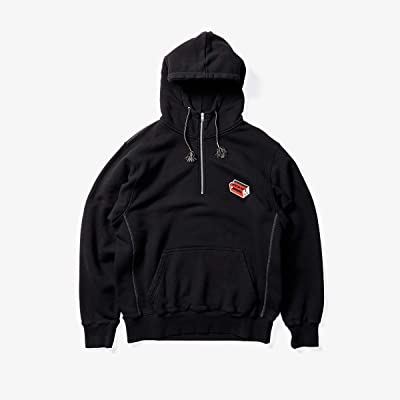 MARNI 1/2 Zip Patch Hoodie (Black) Men