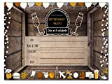 Retirement Party Invitations | Retired Invites Cards | 20 Count with Envelopes | Join us Your are Invited Fill in and Country Style Happy Retirement
