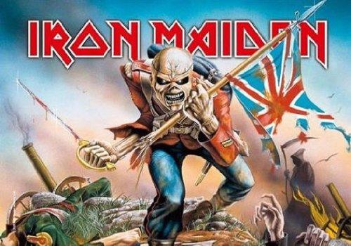 LPGI Iron Maiden Trooper Großes Stoffposter/Flagge 101,6 x 76,2 cm