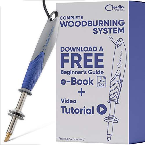 Chandler Tool Wood Burning Kit - 30 Watt - Pyrography Woodburner with Solid Brass Tips - for Woodburning Leather Burning Soldering DIY