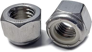 Marine Bolt Supply pack of 10 Stainless Steel Thin Jam Nylon Insert Lock Nuts 3//8-24