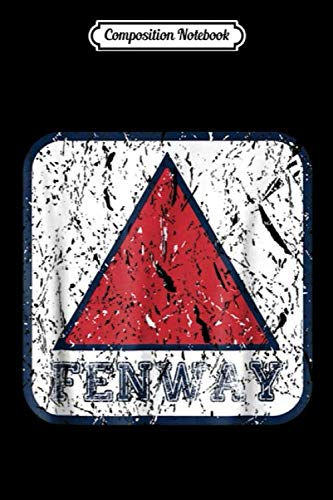 Composition Notebook: Gray Fenway Sign Boston Distressed Baseball Journal/Notebook Blank Lined Ruled 6x9 100 Pages