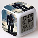 Transformers 5 Last Knight Alarm Clock Transformers, The Last Knight Colorful Alarm Clock,01 Suitable for Home Interior, Children's Room, Birthday