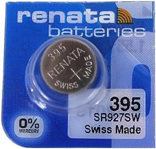 Renata Watch Battery Swiss Made 395 or SR927SW Or AG7 1.5V (5 Batteries, SR927SW)