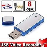 Spycent 8GB Pro suono vocale chiavetta USB SIM mini clip penna spia audio digitale registratore vocale
