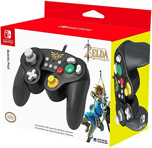 HORI Nintendo Switch Battle Pad (Zelda) Controller im GameCube-Stil