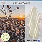 CoverMe Bügelbrettbezug aus 100% Baumwolle – Bügeltischbezug für Dampfbügeleisen – Elastischer Gummi: bis 140 x 50 cm - 6