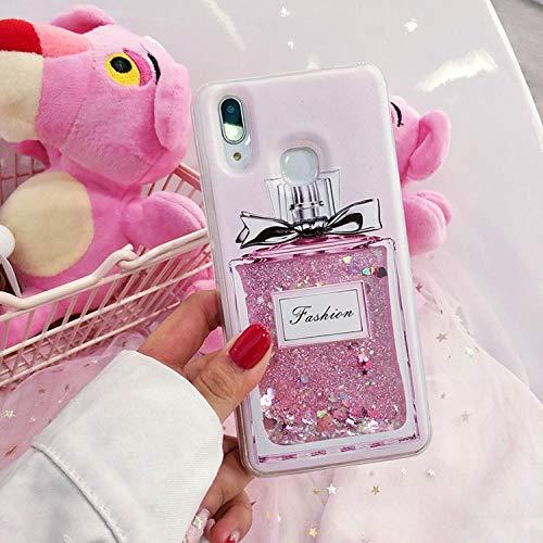Haodong Estuche para teléfono Dynamic Water Liquid para Xiaomi Redmi3 3 Pro 3s 3X Sparkle Glitter Star Soft TPU Cover (2 Piezas, Colores Opcionales)-Redmi 3 Pro_Botella de purfume