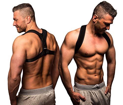 ActiveVikings Geradehalter zur Haltungskorrektur Ideal für eine aufrechte Körperhaltung - Rückenbandage Rückenstabilisator für Damen und Herren (1 - Small (S))