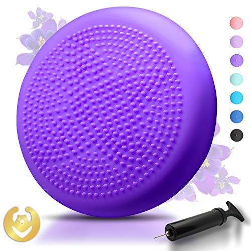 Buy Discount Tumaz Wobble Cushion - Wiggle Seat for Improve Sitting Posture & Attention also Stabili...