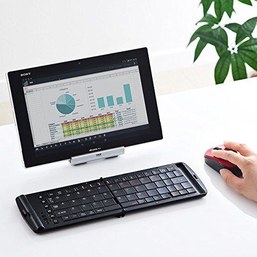 『サンワダイレクト Bluetoothマウス 超小型 充電式 Bluetooth4.0 ブルーLED レッド 400-MA074R』のトップ画像