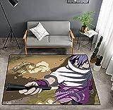 Alfombra Cartoon Anime Character Naruto One Piece Personalidad Creativa Naruto Alfombra Sala De Estar Dormitorio Habitación Mesita De Noche 80 * 160Cm-1_160x230cm