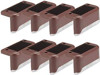 Phonleya Luz de Barandilla Led Solar Lámpara Impermeable para Plataforma de Paso Luces de Escalera con Energía Solar para ...