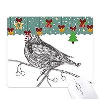 鳥の飛行線の小さなペイント ゲーム用スライドゴムのマウスパッドクリスマス