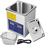 VEVOR Commercial Ultrasonic Cleaner 2L Heated Ultrasonic Cleaner with Digital Timer Jewelry Watch Glasses Cleaner Large Capacity Cleaner Solution