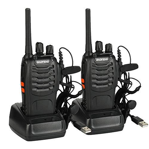 Baofeng BF-88E Ricetrasmittenti PMR446 Walkie Takie USB Ricaricabile 16 canali Ottima ricezione lunga distanza confezione da due apparati radio (2 pcs)