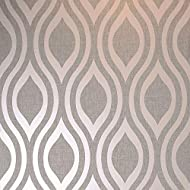 A stylish geometric wallpaper with metallic elements Size: 10.05m (32.10ft) long x 53cm (21in) wide Paste the paper wallpaper Washable Pattern repeat: 53cm, Straight pattern match