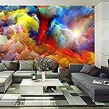 Papel Pintado Arte Abstracto Moderno Nubes Coloridas Pintura Al Óleo Papel Tapiz Fotográfico Comedor Galería Telón De Fondo Decoración De La Pared Mural 3D-500Cm (W) X 320Cm (H)