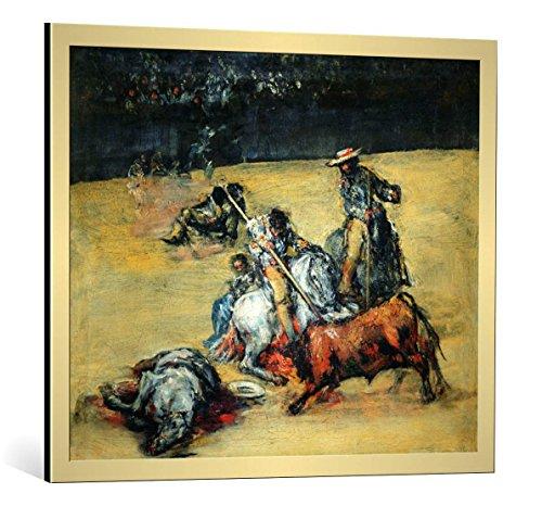 Kunst für Alle Cuadro con Marco: Francisco José de Goya y Lucientes The Bullfight c 1825