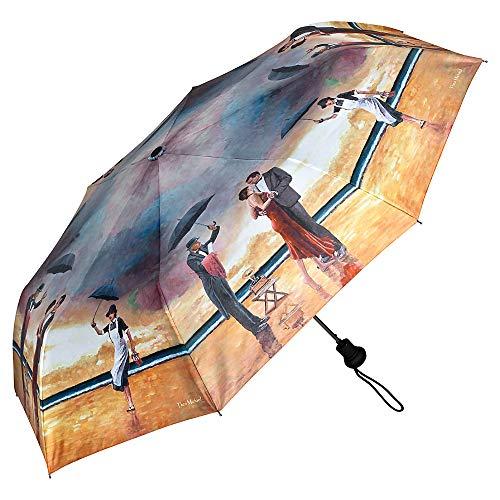 VON LILIENFELD Regenschirm Taschenschirm Automatik Leicht Stabil Damen Herren Kunst Motiv Theo Michael: Hommage to The Singing Butler