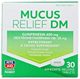 Rite Aid Cough and Congestion DM Tablets - 30 Tablets   Cough Suppressant   Mucus Relief