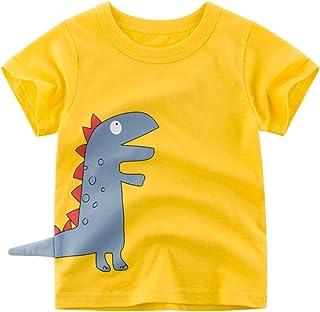 Topgrowth Maglietta Neonato Bambino Camicia T-Shirt con Stampa di Dinosauri Canotta Felpa Senza Maniche 18 Mesi 6 Anni