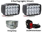 Petrox 15 Led White Bike Led Light Driving Waterproof Headlights Fog Lamp Lighting Accessories...