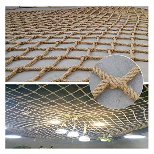 MBTY Rope Netting Heavy Duty Outdoor Railing Decor Hemp Rope Cargo Net Child Playground Climbing Netting Stair Fence Kids Swing Hammock Safety Net (Size : 23m(6x9ft))
