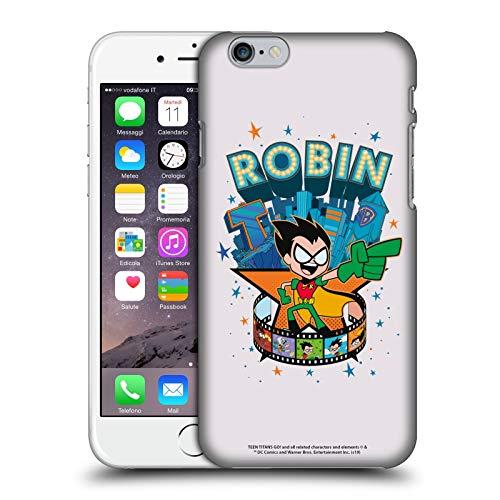 Head Case Designs Ufficiale Teen Titans Go! To The Movies Robin Grafiche Hollywood Cover Dura per Parte Posteriore Compatibile con Apple iPhone 6 / iPhone 6s