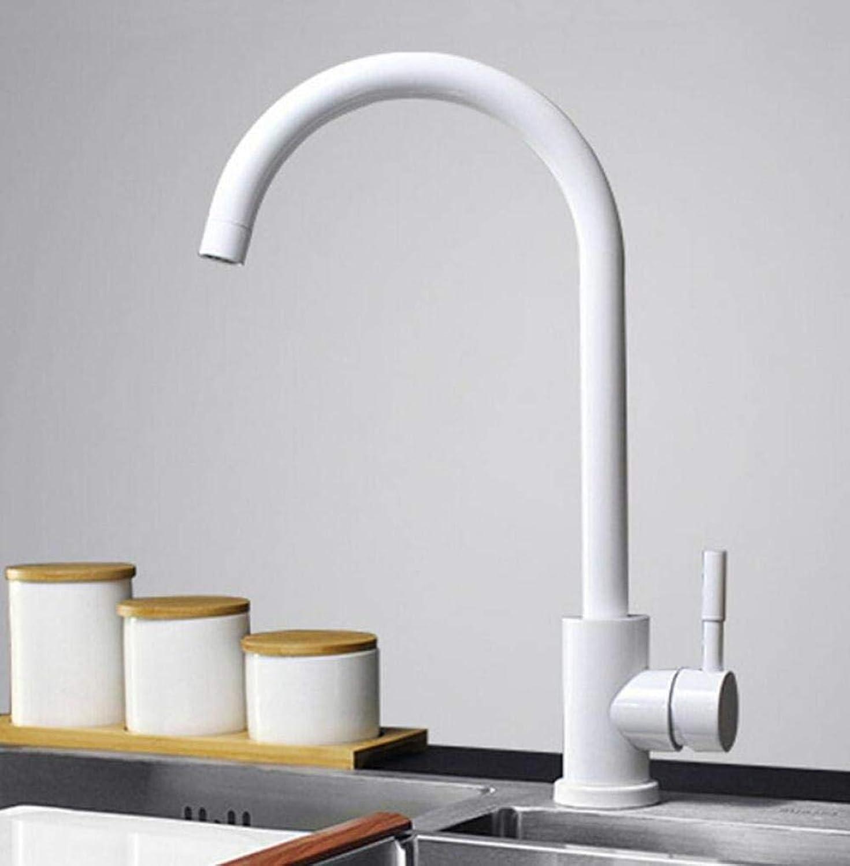 Wasserhahn Küchenarmatur schwarz AndWeiß Farbe 304 Stainless Steel Kitchen Faucet Mixer Dual Sink Rotation Kitchen Water Tap