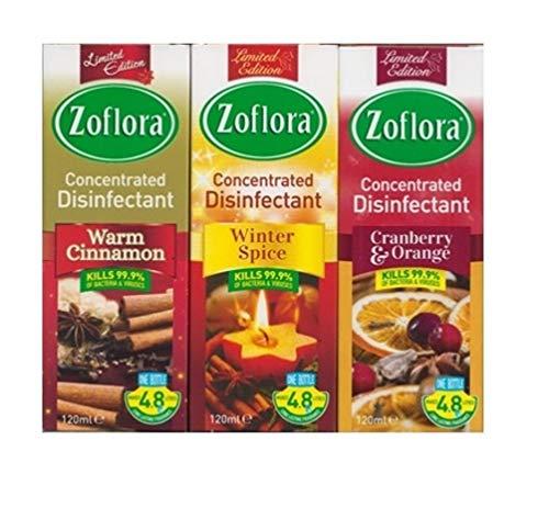 3x Zoflora Winter Spice Disinf