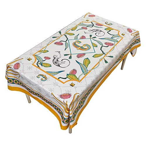 FENDOUBA Tafelkleden Tafelkleed   Korte Pluche Stof Stofdichte Tafelhoes voor Rechthoekige Ronde Tafels Indoor/Outdoor Camping Picnic Circle Table Decoratief (Color : White, Size : 110X110cm)