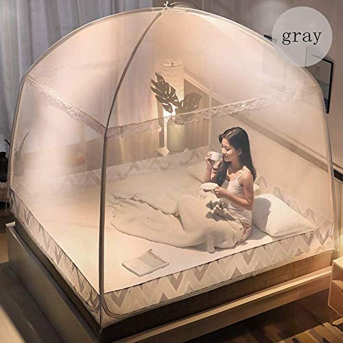 Zidao Mosquito Net Bed Canopy 3 Door Pop Up Mesh Insect Net Fine Mesh Mosquito Net for Travel and Home No Chemicals Easy Installation,1