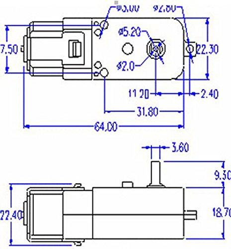 AutoEC 4pcs DC Gear Motor for Smart Car Robot