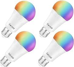 ELEAD LED Light Bulb Smart WiFi E27 7W 60W Equivalent Compatible with Alexa Google Home Decorative Bulbs Multicolor Dimmab...