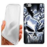 Coque Cover Case Cristal Skull pour Huawei G Play Mini