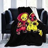 Gene Steinbeck Pikachu Deadpool Anime Print Ultra-Soft Micro Fleece Soft Throw Blanket Soft Light Weight Blanket 50'x40'