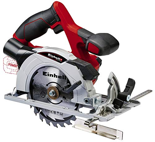 Einhell Te-Cs 18 Li Solo Power X-Change Accucirkelzaag, Lithium-Ionen, 18 V, Max. 48 Mm, Zaagblad Ø150 X Ø10 Mm, 24 Tanden, Stofafzuigadapter, Zonder Accu En Oplader