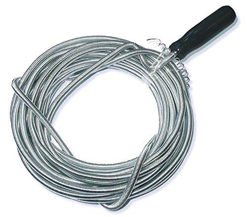 Toolzy 100085 10m x 8mm Rohrreinigungswelle Flexible Spirale Abflussspirale Rohr Reinigungsspirale Abflussreiniger Rohrreinigungs Welle Abfluss Spiralle Rohr Reinigungs Spirale