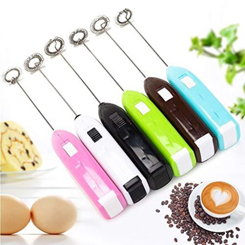 VESNIBA Elektrisch Milchschäumer mit Edelstahlschneebesen, Handgerät,für den morgendlichen Kaffee, Latte, Cappuccino, heiße Schokolade(Batterie Nicht im Lieferumfang enthalten)