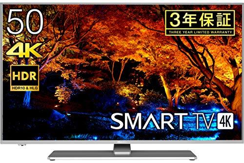 『ハイセンス Hisense 50V型 液晶 テレビ 50A6500 4K 動画アプリ対応 直下型LED』の1枚目の画像