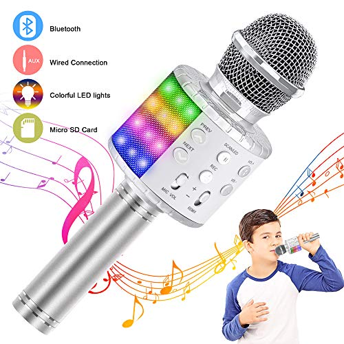 Verkstar Wireless Bluetooth 4 in 1 Karaoke Microphone, Portable Handheld Karaoke Machine Speaker...