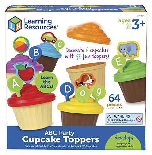 Learning Resources ABC Cupcake Party Toppers, Homeschool, Early Alphabet Learning, Sorting Cupcake Letters, Vocabulary Toy, Cupcakes, Ages 3+ Maine