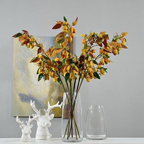 Kunstmatige Mango Fruit Tak Kunstmatige Mango Groene Plant Bloemen voor Bruiloft Thuis Tuin Decoratie 1 PC 44 Mangos