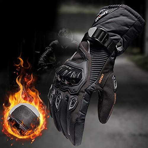 ZHLZH Guantes Moto Invierno JMH-EXU01 - Negro/Rojo/Azul - M/L/XL/XXL 801Impermeable Pantalla Táctil Guantes Protectores de Motociclismo Dedo Completo Guantes de Motocicleta Térmico para Hombre Mujer