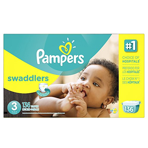Price comparison product image Pampers Swaddlers Disposable Diapers Size 3,  136 Count,  ECONOMY