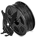 AnKun PLA 3D Printer Filament 1.75mm 1kg (2.2lbs), Dimensional Accuracy +/- 0.02 mm, Black 3D Printing Filament Spool Widely Compatible for FDM 3D Printers