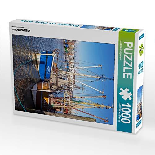 CALVENDO Puzzle Norddeich Blick 1000 Teile Lege-Größe 48 x 64 cm Foto-Puzzle Bild von Andrea Dreegmeyer